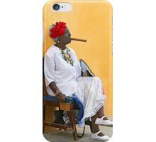 Lady with Cigar iPhone Case/Skin