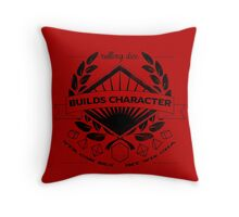 Rolling Dice Builds Character Throw Pillow