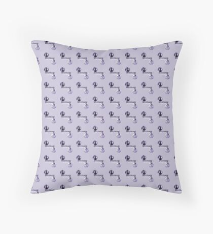 Mystrade Pattern Purple Throw Pillow