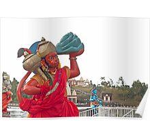 shrine of God Hanuman Poster