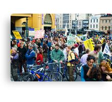 Rally for the Environment Canvas Print