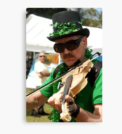 Irish Fiddler Canvas Print