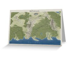 The Northlands map Greeting Card