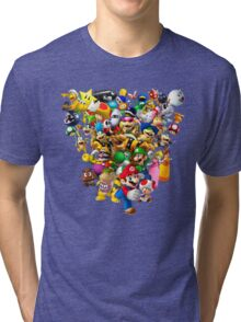 Mario Bros - All Star Tri-blend T-Shirt