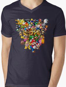 Mario Bros - All Star Mens V-Neck T-Shirt