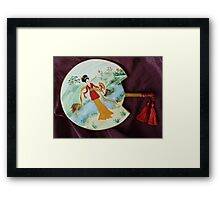 Japanese Decorated Fan Framed Print