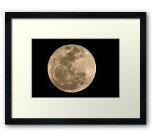 Super Moon (3/19/2011) Framed Print