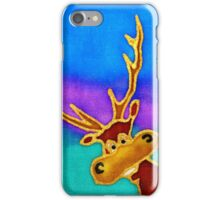 silly stag quilt size iPhone Case/Skin