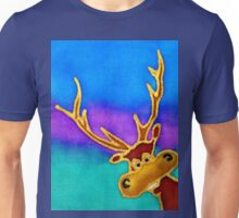 silly stag quilt size Unisex T-Shirt