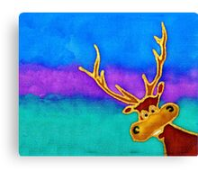 silly stag quilt size Canvas Print