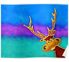 silly stag quilt size Poster