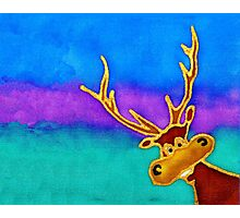 silly stag quilt size Photographic Print