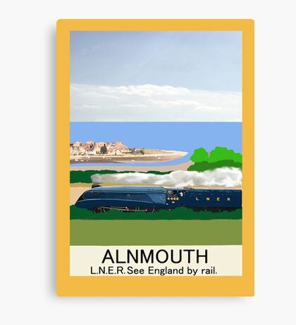 Alnmouth Poster Canvas Print