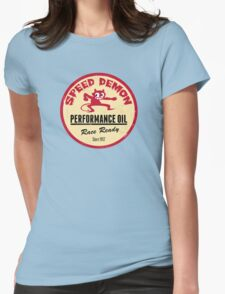 Hot Rod Retro Decal Womens Fitted T-Shirt