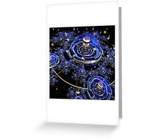 Luxurious Space Colony Greeting Card