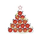 Christmas Tree T and Sticker (3) by catherine barnhoorn