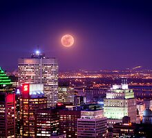 Super Moon Over the City by Andrei I. Gere