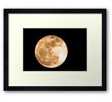 Super Moon 2011 Framed Print