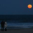 Super Perigree Moon In Virginia Beach by Bonnie Robert