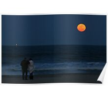 Super Perigree Moon In Virginia Beach Poster