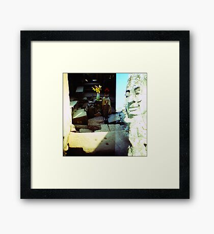 in the sun, siem reap, cambodia Framed Print