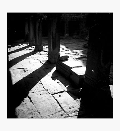 pillars, siem reap, cambodia Photographic Print