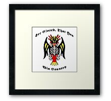 See Closed, That You Win Country Framed Print