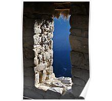 Incan Window at Sunrise Poster