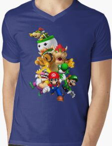 Mario 64 Mens V-Neck T-Shirt