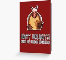 Happy Holidays from the Holiday Armadillo Greeting Card