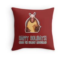 Happy Holidays from the Holiday Armadillo Throw Pillow
