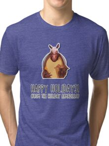Happy Holidays from the Holiday Armadillo Tri-blend T-Shirt