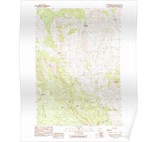 USGS Topo Map Oregon Courthouse Rock 279459 1990 24000 Poster