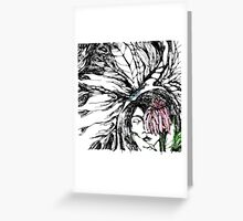butterfly lady color Greeting Card