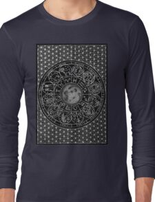 Zodiac Moon - Mandala Design Long Sleeve T-Shirt