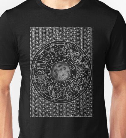 Zodiac Moon - Mandala Design Unisex T-Shirt
