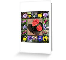 Sunshine and Showers Floral Collage Greeting Card