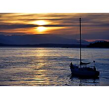 Sail Away Into the Sunset Photographic Print