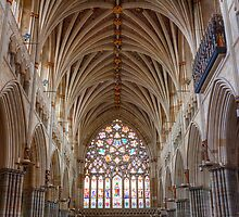 Exeter Cathedral Detail by Robert Wright
