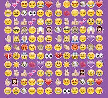 purple emojis by gossiprag