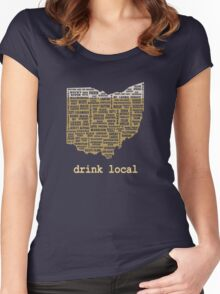 Drink Local - Ohio Beer Shirt Women's Fitted Scoop T-Shirt