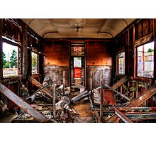 Train Carriage in HDR  Photographic Print