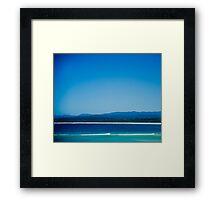 Aqua Bliss Framed Print