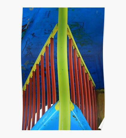 Colorful Railings Poster