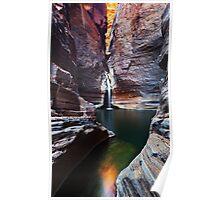 Knox Slide - Karijini N.P. Western Australia Poster