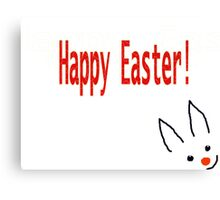 Happy Easter card for Kids Canvas Print