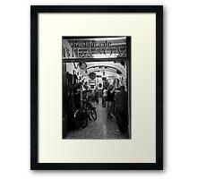 peoplescapes #278, restaurante bidasoa Framed Print