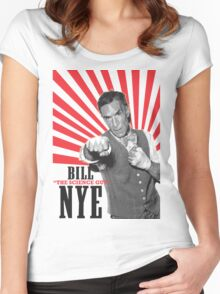 """Bill """"The Science Guy"""" Nye Women's Fitted Scoop T-Shirt"""
