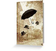 magritte meets pushkin Greeting Card