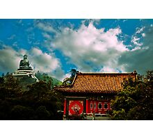 Big Budda and Temple Photographic Print